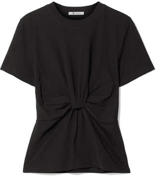 Alexander Wang Twist-front Cotton-jersey T-shirt - Black
