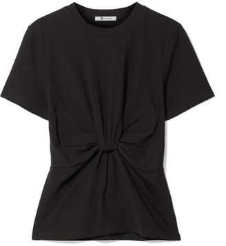Alexander Wang Twist-front Cotton-jersey T-shirt - Black