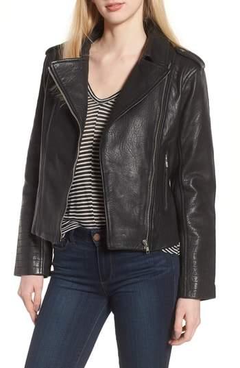 Mathew Textured Leather Jacket