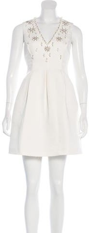 Kate Spade Kate Spade New York Embellished A-Line Dress
