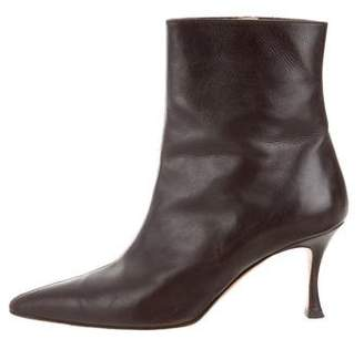 Manolo Blahnik Leather Mid-Calf Boots