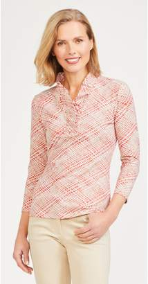 J.Mclaughlin Durham Ruffle Top in Crosshatch