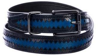 Theyskens' Theory Patent Leather Skinny Belt