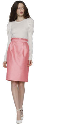 Alice + Olivia Toni Mid Length Paper Bag Structured Skirt