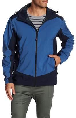 Hawke & Co Colorblock Hooded Rain Jacket