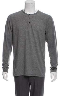 Barneys New York Barney's New York Striped Henley Shirt w/ Tags