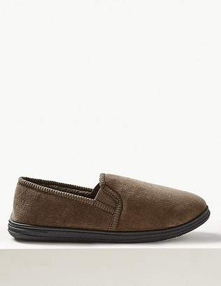 Marks and Spencer Velour Pull-on Slippers with ThinsulateTM