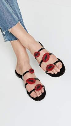 Giuseppe Zanotti Strappy Lip Sandals