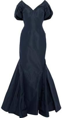 Zac Posen Off-The-Shoulder Silk Duchesse Satin Gown