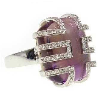 Ri Noor - Deco Amethyst Diamond Ring