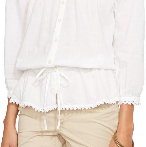 Ralph Lauren Jeans Co. Crochet-Trim Cotton Blouse 2