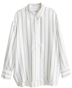 MANGO Oversize striped shirt