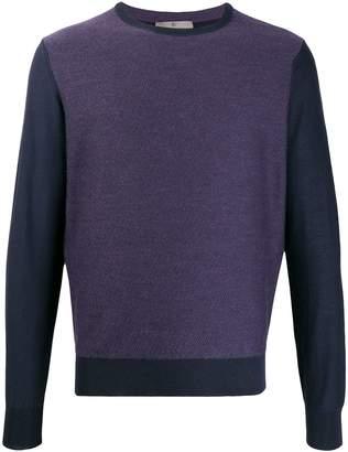 Canali contrast long-sleeve sweatshirt