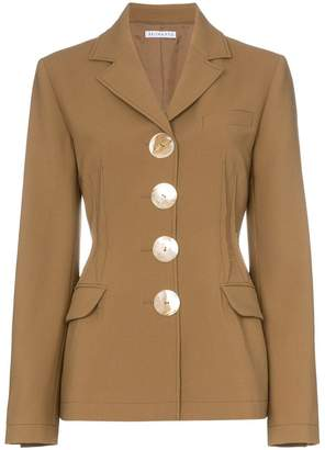 REJINA PYO fitted wool blazer with oversized buttons
