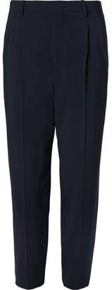 Giorgio Armani Pleated Stretch Virgin Wool-Crepe Trousers