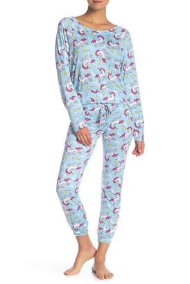 Couture Curvy Unicorn 2-Piece Pajama Set