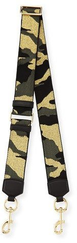 Marc Jacobs Marc Jacobs Webbed Camo-Print Shoulder Strap, Black Multicolor