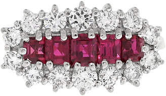 One Kings Lane Vintage 18K Yellow Gold - Diamond & Ruby Ring - Raymond Lee Jewelers