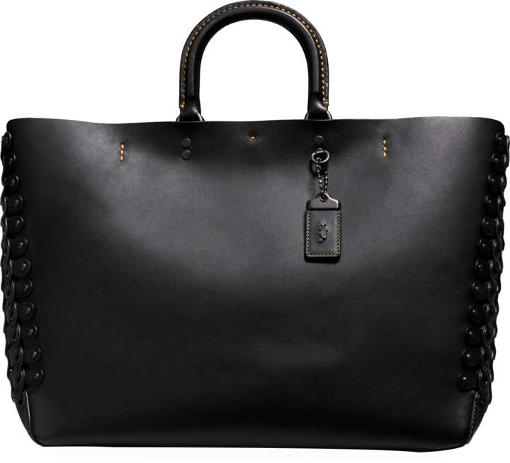 Coach Rogue tote bag with linked leather details