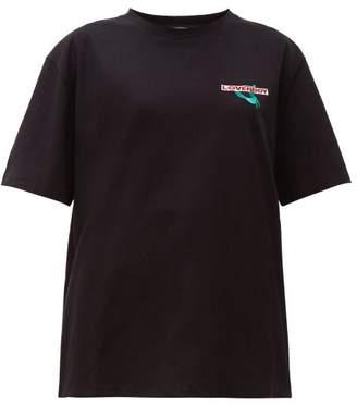 Charles Jeffrey Loverboy Art Gallery Cotton T Shirt - Womens - Black
