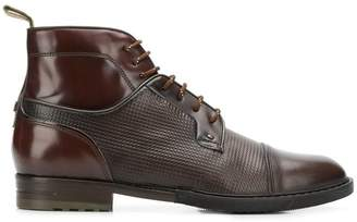 Brimarts pebbled lace-up boots