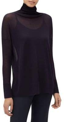 Lafayette 148 New York Voile Sheer Turtleneck