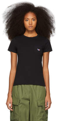 MAISON KITSUNÉ Black Tricolor Fox Patch Pocket T-Shirt