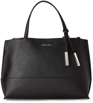 Calvin Klein Convertible Faux Saffiano Leather Satchel