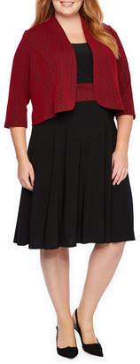 Perceptions 3/4 Sleeve Jacket Dress - Plus