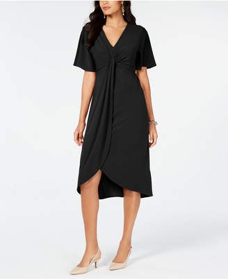 Alfani Twist-Front High-Low Hem Dress