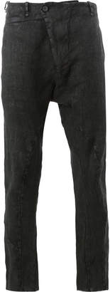 Masnada wrap front skinny trousers
