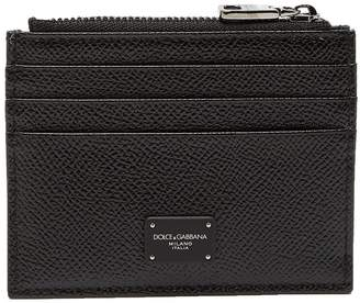 Dolce & Gabbana Grained leather cardholder