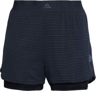 adidas (アディダス) - Adidas レイヤード ストライプ ストレッチ ショートパンツ