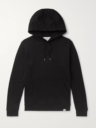 Norse Projects Vagn Loopback Cotton-Jersey Hoodie - Men - Black