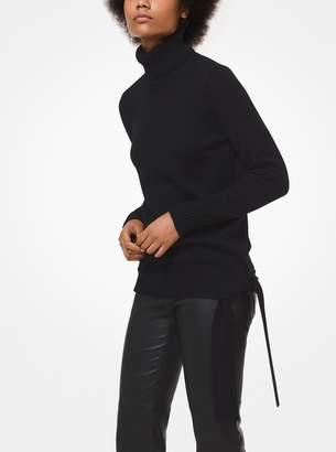 MICHAEL Michael Kors Merino Wool-Blend Side-Tie Turtleneck