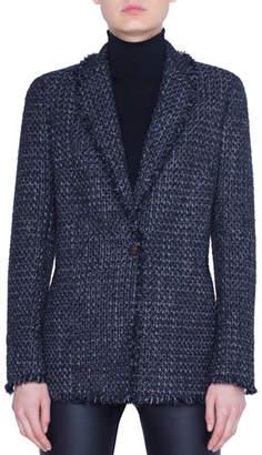 Akris Punto Tweed Blazer Jacket