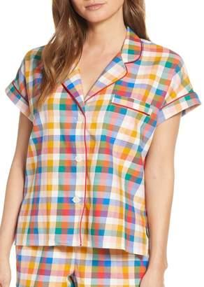 Madewell Rainbow Plaid Pajama Top