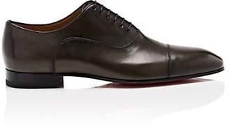 Christian Louboutin Men's Greggo Flat Leather Balmorals - Charcoal