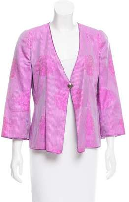 Armani Collezioni Abstract Pattern Silk Jacket
