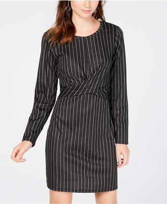 No Comment Juniors' Twist-Front A-Line Dress