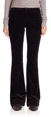 J Brand Maria High-Rise Veveteen Flare Pants