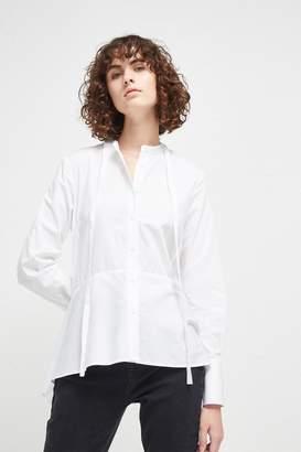 Fcus Summer Stripe Mix Tie Neck Shirt