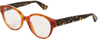 Gucci GG 0090O Amber Cat Eye Optical Frames