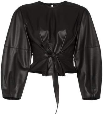ebff4a58b4c4b Nanushka corsa faux leather belted top