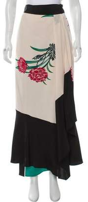 Diane von Furstenberg Maxi Wrap Skirt