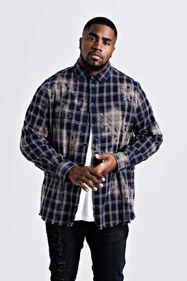 Big & Tall Dip Dye Check Shirt