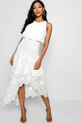 boohoo Boutique Amra Embroidered Asymmetric Dress