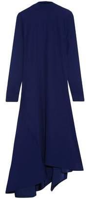 Marni Asymmetric Draped Pleated Crepe Midi Dress