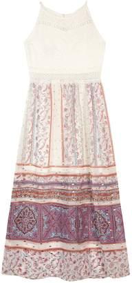 Amy Byer Iz Girls 7-16 IZ Paisley Colorblock Maxi Dress