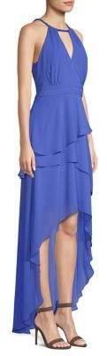 Laundry by Shelli Segal Chiffon Asymmetrical Tiered Gown